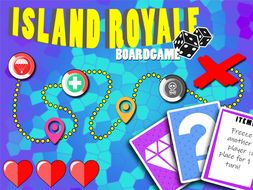Island Royale - A colourful, fun and printable board game and quiz suitable for all years
