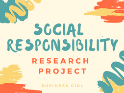 Social Responsibility Research Project
