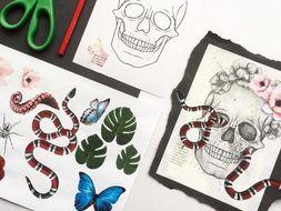 Collage Skull Lesson