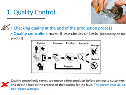 2.3 Quality Control and Quality assurance