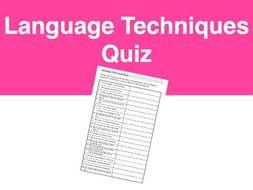 Language Techniques Quiz