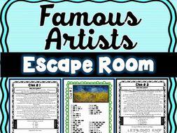 Famous Artists ESCAPE ROOM: da Vinci, Matisse, Kandinsky, van Gogh - Print & Go!