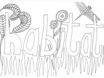 Habitat Colouring Page