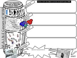 Causes of WWI Graphic Organizer by learningisapassion