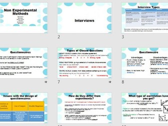 Self Report & Correlations Research Methods Revision