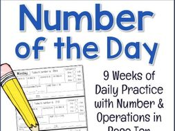 2nd Grade/Year 3 NUMBER OF THE DAY Daily Math: Number & Operations in Base  10