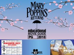 Mary Poppins Returns Movie Guide | Questions | Worksheet (PG - 2018)