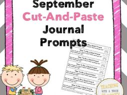 September Cut and Paste Journal Prompts