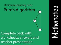 Prims Algorithm using a Matrix