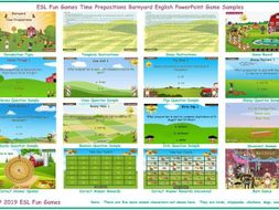Time Prepositions Barnyard English PowerPoint Game