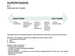 Edexcel A-Level Superpowers complete notes