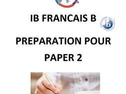 IB French B Paper 2 2018 Revision HANDBOOK