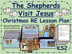 KS2 Christmas RE Lesson - The shepherds visit Jesus