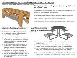 Resistant Materials exam preparation 2017,   Unit One. (Materials, Components and Applications),
