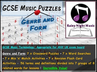 GCSE Music Language for Learning STRUCTURE FORM Bellringers Starters Revision Activities