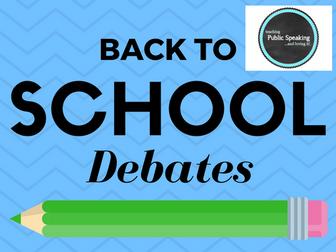 Back to School Debates
