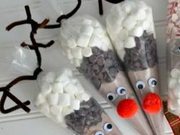 Christmas Hot-Choc Reindeer Cones- Instructions