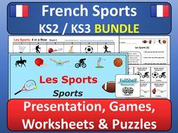 french sports les sports bundle by fullshelf teaching resources. Black Bedroom Furniture Sets. Home Design Ideas