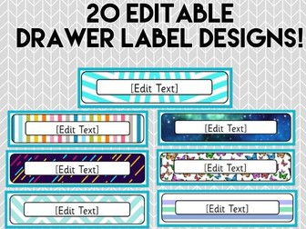 20 Editable Drawer Label Designs