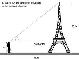 Trigonometry - SOHCAHTOA in context | Teaching Resources