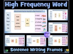 sentence writing 10 high frequency word writing frames set 1 sen resource by krazikas. Black Bedroom Furniture Sets. Home Design Ideas