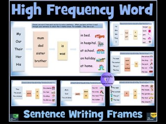 Sentence Writing: 10 High-Frequency Word Frames