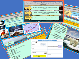 GCSE AQA 9-1: Climate Change - The  Evidence for Climate Change.