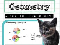 geometry powerpoint angles in parallel lines shapes by