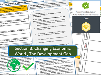 Double Sided A3 Revision Sheet -  AQA 9-1 The Changing Economic World.