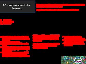 AQA GCSE 9-1 B7 Non Communicable Disease Revision Mat
