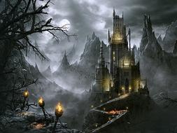 Writing a description of Dracula's castle. Gothic Horror Novel