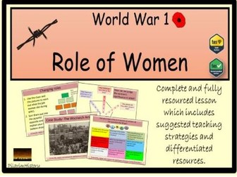 Role of women in World War 1