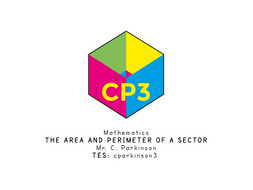 The area and perimeter of a sector