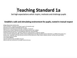 PGCE Evidence Folder Organisation and Examples of Teaching Standards