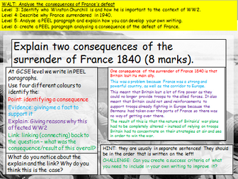 KS3 defeat of France (WW2)