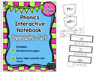 Phonics Interactive Notebook: Digraphs Set