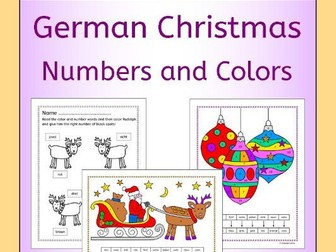 German Christmas Numbers and Colors Fun Activities