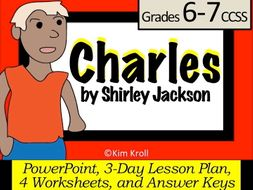 Charles by Shirley Jackson Lesson PLUS