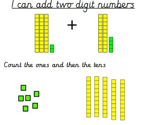 Adding 2 Digit Numbers Using Diennes / Base 10