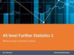 AS Further statistics 1 notes  (new specification)