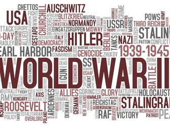 History / Topic: World War 2 - Why it started +  Allied / Axis powers
