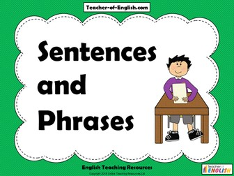 Phrases and Sentences - Year 3/4