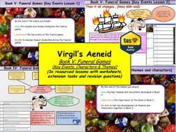 Virgil's Aeneid Book V: Funeral Games (3x Lessons) [New OCR A-Level: 'The World of the Hero']
