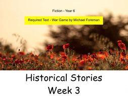 Year 6 - Historical Stories (Week 3 of 3)