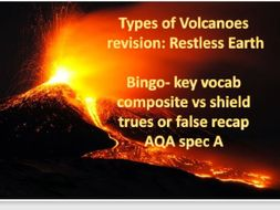 Composite and shield volcanoes revision geography GCSE
