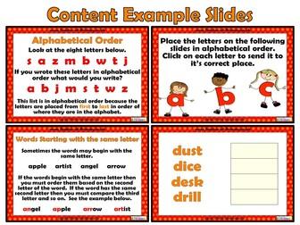 Alphabetical Order - PowerPoint teaching resource