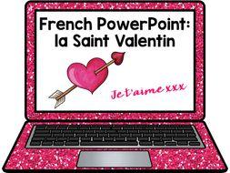 French Presentation and Games: Valentine's Day La Saint Valentin
