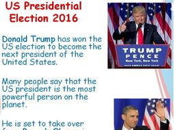 us election donald trump becomes president powerpoint ks1 ks2 by