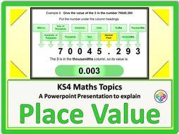 Place Value KS4