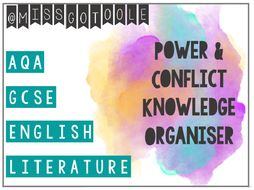 Poetry: Power and Conflict Knowledge Organiser/ Revision Mat (AQA)